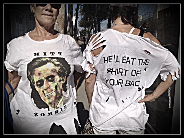MITT ROMNEY ZOMBIES IN WEST WEST HOLLYWOOD