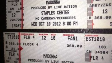 UNJUSTIFIABLE LOVE - I GOT MADONNA MDNA TICKETS! FLOOR SEATS!!!