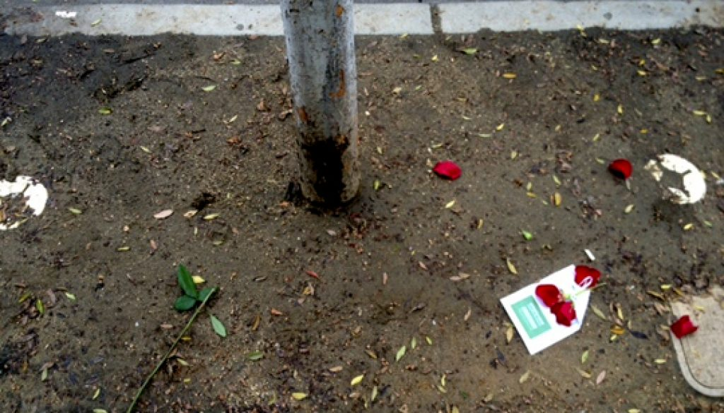 WEST HOLLYWOOD WORLD AIDS DAY MEMORIAL WAY – VANDALIZED