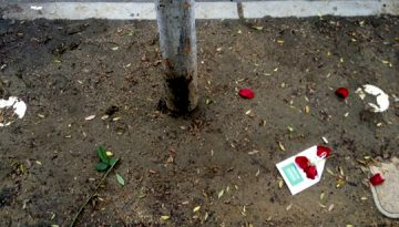 WEST HOLLYWOOD WORLD AIDS DAY MEMORIAL WAY - VANDALIZED