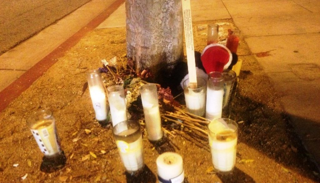 MYSTERIOUS DEATH MEMORIAL IN THE CITY WEST HOLLYWOOD