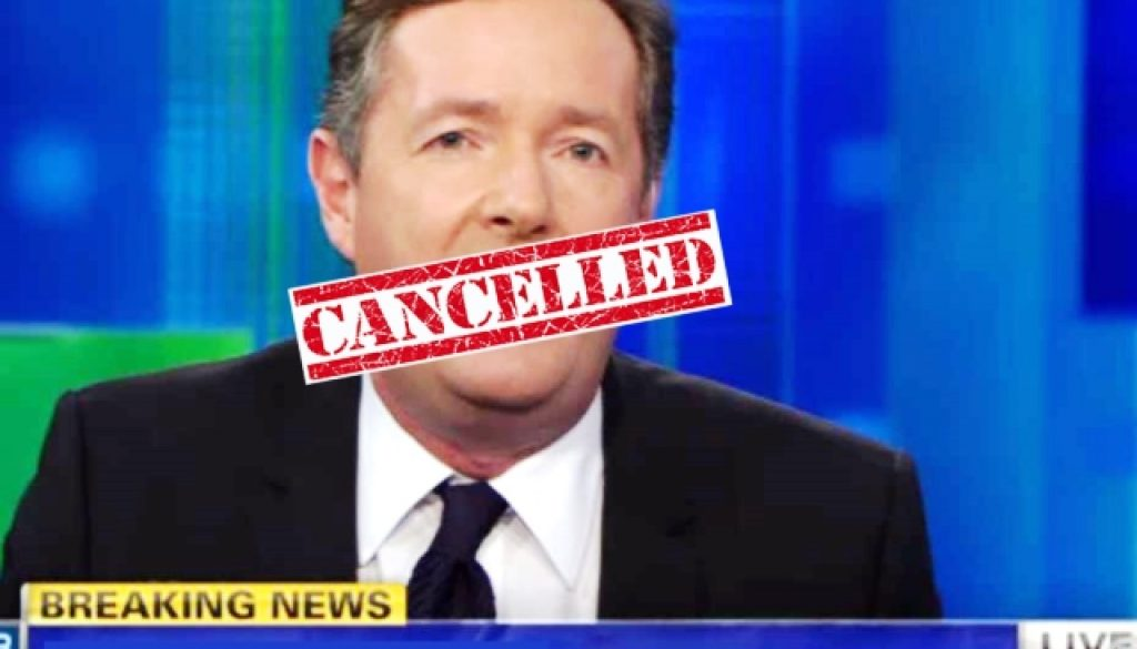 Piers Morgan fired the hiss fit