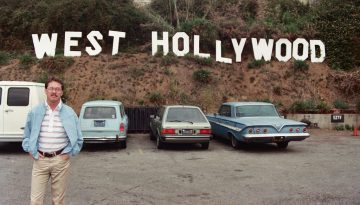 West Hollywood Sign in the parking lot of EZTV - 1987