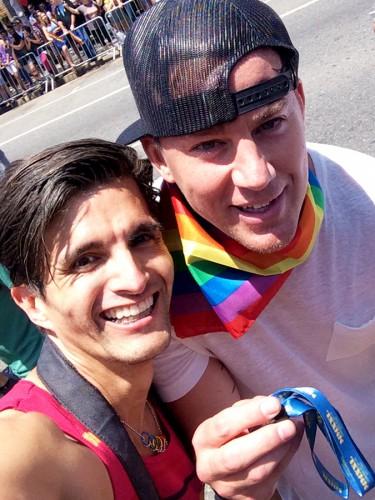Paulo Murillo Channing Tatum LA Pride