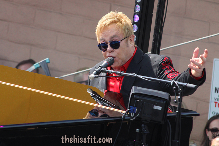 Elton John's Music Made the People Come Together at Tower Records West Hollywood