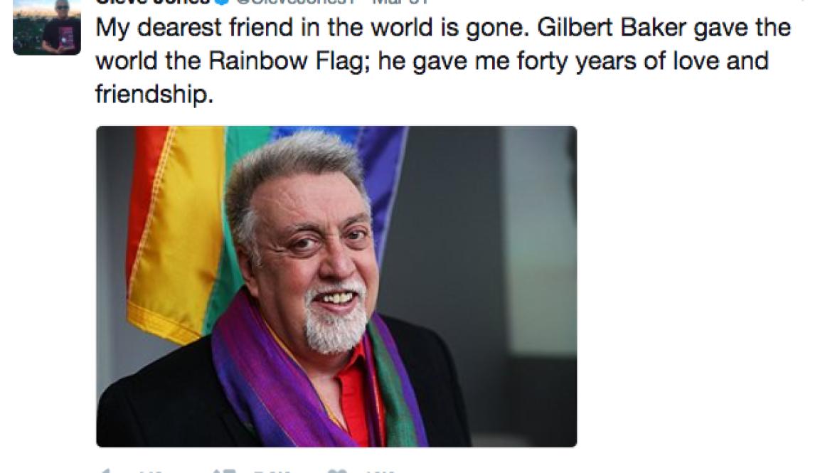 Gilbert Baker, Creator of Gay Rainbow Flag, dies at 65