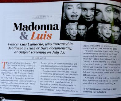 Madonna & Luis Camacho